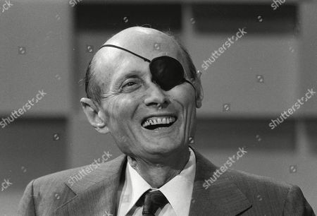 """MOSHE DAYAN Israeli Moshe Dayan seen on the """"Today Show"""". Dayan says his two biggest mistakes as defense minister were capturing the Golan Heights from Syria in 1967 and allowing Jews to return to Hebron on the West Bank, the legendary Israeli general said in a newly disclosed interview given in 1976, five years before his death"""