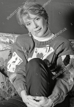 """Nancy Dussault Actress Nancy Dussault, who plays the witch in the Stephen Sondheim musical, """"Into the Woods,"""" on Broadway, is shown at her home in New York"""