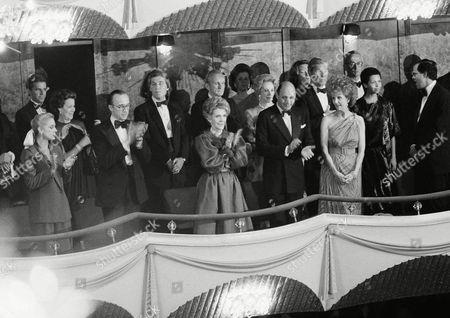 Nancy Reagan, Reinaldo Herrera, Judith Peabody First Lady Nancy Reagan, center, attends the premiere performance of the Dance Theatre of Harlem at the Metropolitan Opera House at Lincoln Center, New York. Next to Nancy is Mr. Reinaldo Herrera, gala chairman; at right is Mrs. Judith Peabody, chairman of the board, Dance Theatre of Harlem