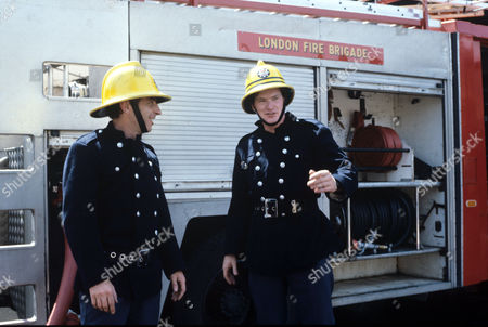 James Hazeldine (left) and Sean Blowers  in 'Londons Burning' Film- 1986