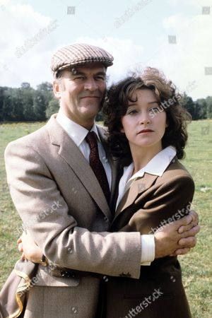 Stock Picture of Cherie Lunghi and Moray Watson in 'Tales Of The Unexpected' - 1982 Episode: 'Death In The Morning'