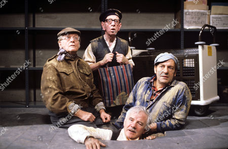L-R Bill Owen , Joe Gladwin , Harry H. Corbett and Fulton Mackay (foreground) in 'Tales Of The Unexpected' - 1982 Episode: 'The Moles'