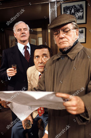 Stock Image of L-R Fulton Mackay , Harry H. Corbett and Bill Owen in 'Tales Of The Unexpected' - 1982 Episode: 'The Moles'