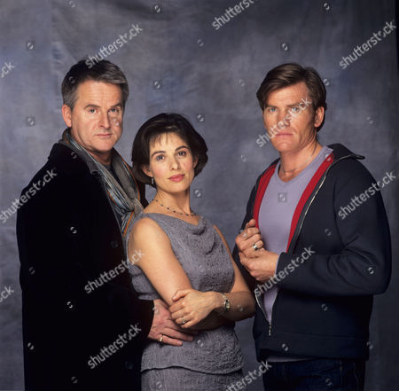 Trevor Eve, Richard Dillane and Rosalind Bennett in 'An Evil Streak' - 1999