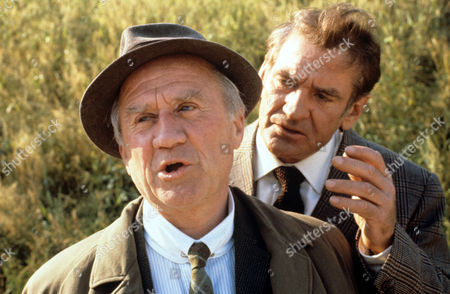 Cyril Cusack (left) and Rod Taylor in 'Tales Of The Unexpected' - 1980 Episode: 'The Hitch-Hiker'