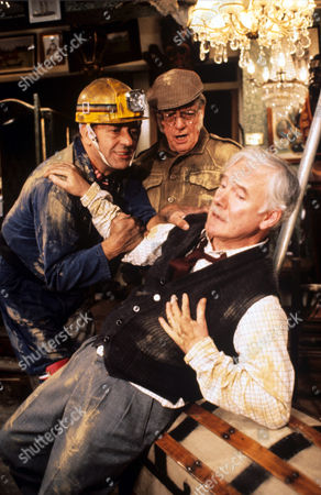L-R  Harry H. Corbett ,  Bill Owen and Fulton Mackay in 'Tales Of The Unexpected' - 1982 Episode: 'The Moles'