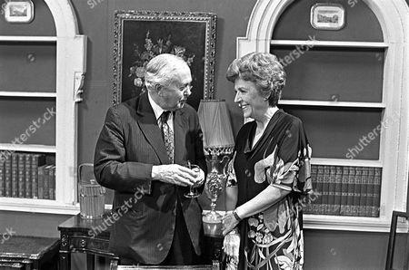 Harold Wilson with Noele Gordon on the set of 'Crossroads' - 1970's
