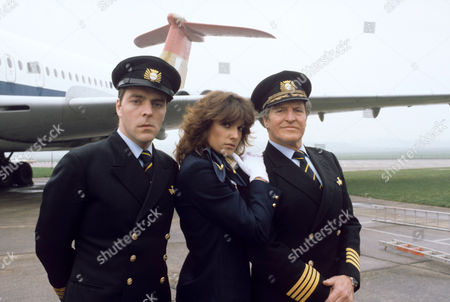 L-R Simon Cadell , Suzanne Danielle and Denis Quilley in 'Tales Of The Unexpected' - 1981  Episode: 'Hijack'