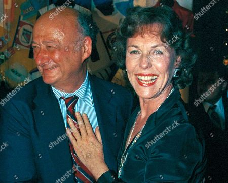 New York Mayor Edward Koch, left, poses with former Miss America Bess Myerson in New York. Myerson, the first Jewish Miss America who parlayed her stunning 1945 victory into national celebrity, died Dec. 14, 2014, at her home in Santa Monica, Calif. She was 90. She landed a series of television jobs before her appointment as New York City's chief consumer watchdog in 1969. Myerson helped Koch win the 1977 mayoral race