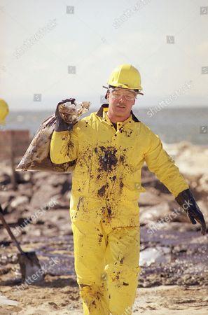 Editorial photo of Oil Disaster U.S. California 1990, Newport Beach, USA