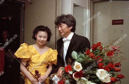 Editorial photo of Ozawa And Midori, New York, USA