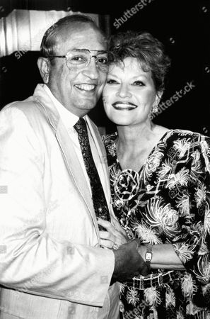 Singer Patti Page poses with her husband of seven weeks, Jerry Filiciotto, at Rainbow and Stars club, in New York. Page opened on Tuesday in her cabaret performance at the club