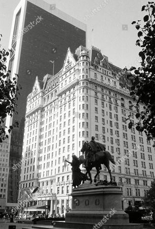 Watchf Associated Press Domestic News New York United States APHS58523 PLAZA HOTEL The Plaza Hotel in New York City is seen in looking south from Fifth Avenue and 59th Street in this photo from October of 1982. In the foreground is Augustus Saint-Gaudens part-gilded bronze equestrian statue of General William T. Sherman. The Plaza Hotel is a landmark building on Central Park South in Manhattan. The hotel also occupies the west side of Grand Army Plaza, from which it derives its name. The Grand Army Plaza commemorates the Army of the Union in the Civil War