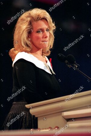 Fisher Founder of the Family AIDS Network, Mary Fisher, who is HIV positive, pauses during her speech to the Republican National Convention at the Houston Astrodome, Houston, Texas, Wednesday night