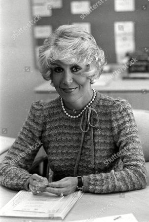 BARRETT Hollywood reporter Rona Barrett poses in her NBC office in Burbank, Calif., on