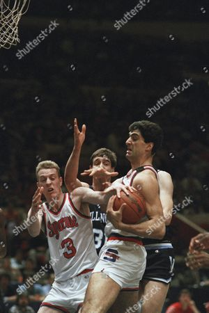 Rony Seikaly, Matt Roe, Mark Plansky Syracuse's Rony Seikaly, right, battles teammate Matt Roe (3) and Villanova's Mark Plansky, center, for possession of the ball in first-period action at New York's Madison Square Garden, in New York in the Big East Conference Championship Game