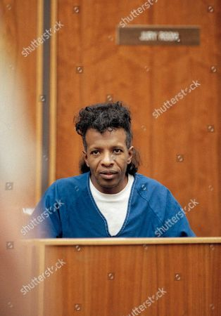 Sylvester Stewart, better known as singer Sly Stone in court Los Angeles during arraignment on outstanding cocaine possession charges. The former rock star was extradited from Connecticut