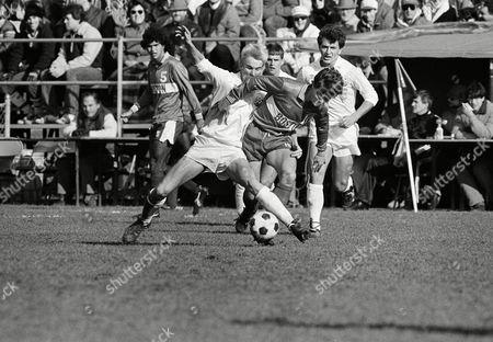 Editorial photo of Soccer College NCAA Games 1985 Boston vs UConn, USA