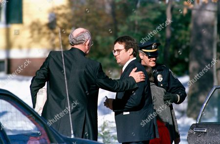 Christa McAuliffe Steven McAuliffe, right, is consoled by an unidentified man outside McAuliffe's Concord, New Hampshire home, following funeral services for his wife, Christa, who died in the explosion of the Space Shuttle Challenger