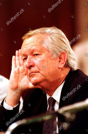 American novelist William Styron is seen during his appearance before the Senate Judiciary Committee on Capitol Hill, Washington,, to testify about the nomination of Robert H. Bork to Supreme Court. Styron opposes the nomination, saying if confirmed as Supreme Court Justice Bork would jeopardize his artistic freedom