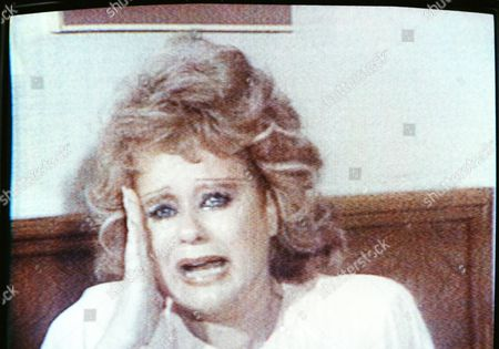Tammy Faye Bakker Tammy Faye Bakker gives a tearful account of her husband's treatment by officials at the Federal Correctional Institution at Butner, N.C. The wife of TV evangelist Jim Bakker during her daily TV broadcast from their Orlando TV studio on . Bakker, on trial in Charlotte, N.C. on federal tax charges, suffered an apparent mental collapse last week. Photographed from a CNN rebroadcast in New York