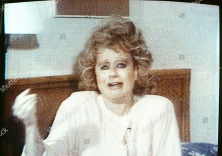 Tammy Faye Bakker Tammy Faye Bakker, wife of convicted felon and televangelist Jim Bakker as she appeared on CNN on speaking and crying about her husband being taken handcuffed and shackled to a mental institution during the course of his trial. Photo of television broadcast