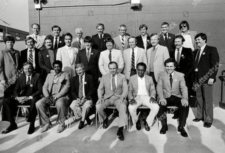 Players and other personnel from the 1967 Boston Red Sox pennant-winning team gather for a photo as part of a benefit night for former Red Sox star Tony Conigliaro, who remains hospitalized following a heart attack, at Fenway Park in Boston, Mass., . First row, from left: Mike Ryan; Joe Foy; Eddie Popowski; Buddy LeRoux; Jose Tartabull; and Rico Petrocelli. Second row: Mike Andrews; Jerry Stephenson; Bill Rohr; Gary Waslewski; Jerry Moses; Gary Bell; Darrell Brandon; George Thomas; Sparky Lyle; and unidentified former batboy. Third row: Norm Siebern; Dave Morehead; Bobby Doerr; Bill Landis; Dalton Jones; Ken Brett; Russ Gibson; and Dennis Bennett
