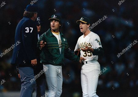 Tony LaRussa Oakland Athletics manager Tony LaRussa, center, and pitcher Bob Welch argue with home plate umpire Drew Coble after Welch was charged with his second balk of the game in the 3rd inning against Detroit in Oakland