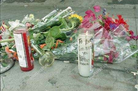 Associated Press Domestic News California United States Entertainment VIPER ROOM RIVER PHOENIX Flowers and candles are seen outside the Viper Room nightclub on Sunset Boulevard in West Hollywood, Calif., . Actor River Phoenix, 23, collapsed and died of a drug overdose outside the nightclub on Oct. 31