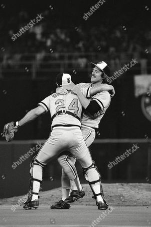 Scott McGregor, Rick Dempsey Baltimore Orioles pitcher Scott McGregor celebrates with catcher Rick Dempsey, the Most Valuable Player in the World Series, after the O's won in Philadelphia to take the Series