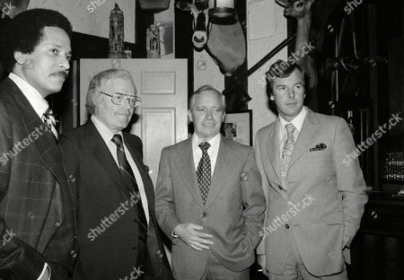 From left to right: Max Robinson, Frank Reynolds, Roone Arledge and Peter Jennings, who make up the new ABC Evening News Team, are seen in New York