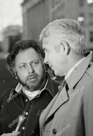 Goldstein Fahringer Pornographic magazine publisher Al Goldstein, left, talks with his attorney Herald Fahringer as they leave the Federal Court Building in Kansas City, Kansas, after the jury failed to reach a verdict in Goldstein's obscenity trial, . The jury willl begin its second day of deliberation tomorrow