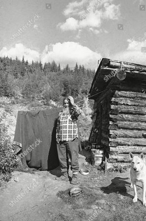 """Harry Leonard, 76 years old prospector, has lived for 40 years in his cabin, in the tiny village of Wiseman, deep in the Alaska wilderness, shown on . A new road and oil pipeline construction are bringing """"civilization"""" too near, as well as possible encroachment on land and mineral claims. But Leonard won't give way easily. """"I'll keep going as long as I can,"""" he says"""