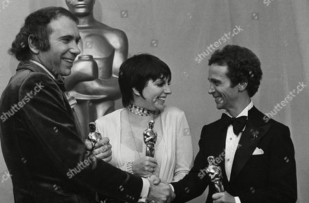 "Albert Ruddy, Liza Minnelli, Joel Gray Producer Albert S. Ruddy, actress Liza Minnelli and actor Joel Gray, left to right, pose with their Oscars after the 45th annual Academy Awards ceremony at the Music Center in Los Angeles . Ruddy's movie, ""The Godfather,"" was named best picture of the year. Miss Minnelli was named best actress and Gray was named best supporting actor for their roles in ""Cabaret"