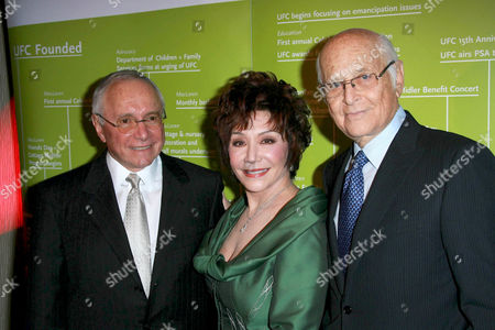 Lynda Resnick and Stewart Resnick with Norman Lear