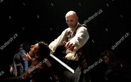 Macbeth performed by the Royal Shakespeare Company Frances Ashman ( Witch ) Patrick O'Kane ( Macbeth ) Sarah Malin ( Witch ) Mojisola Adebayo ( Witch )
