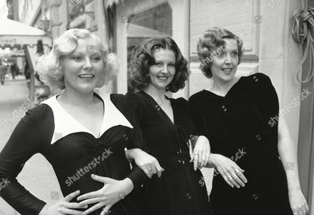 """Seeking the look of the 1930s for their parts in a revival of Cole Porter's """"You Never Know,"""" This trio went to the Charles of the Ritz Salon in New York on . Emerging, from left, with the hairdos of Jean Harlow, Myrna Loy and LorettaYoung are actresses Grace Theveny, Lynn Fitzpatrick and Barbara Norris. The show opens at New York's Eastside Playhouse on March 8"""