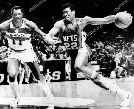 Bernard King New Jersey Nets rookie Bernard King drives past Elvin Hayes of the Washington Bullets in action in Washington