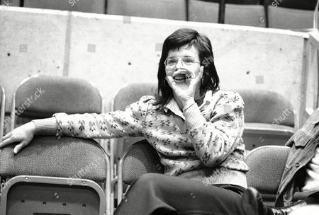 Billie Jean King Tennis star Billie Jean King cups her hand to her mouth and calls to a friend before the start of the final round of the World Cup Tennis Tournament in Hartford, Connecticut on . Rod Laver of Australia won the cup for Australia for the fourth consecutive year when he beat Arthur Ashe of the United States in a singles match 6-2, 7-6. Ms. King was at the tourney as a spectator