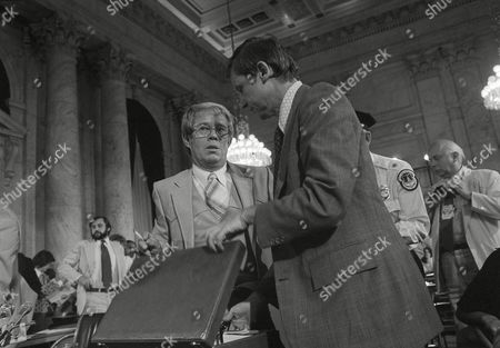 Billy Carter, Henry Ruth Billy Carter, left, and his attorney Henry Ruth prepare to leave the Old Senate Caucus Room in Washington at the conclusion of two days of hearings where Bill Carter testified on his ties with the Libyan government