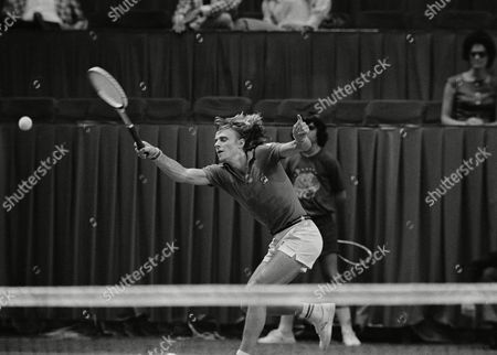 Bjorn Borg Bjorn Borg of Sweden returns the ball to Rod Laver in semi-finals match at World Championship of Tennis in Dallas, . Borg beat Laver in five sets and will meet winner of the John Alexander-Arthur Ashe match for championship on Sunday