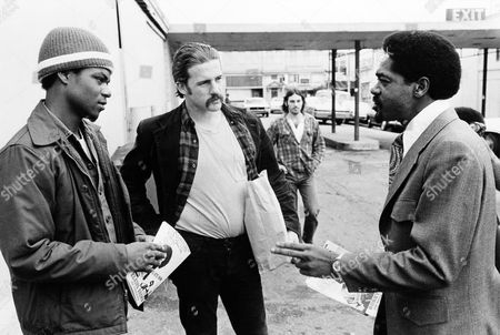 Bobby Seale Bobby Seale, right, candidate for mayor of Oakland, campaigning in a parking lot outside a shopping center at 55th and Telegraph in Oakland