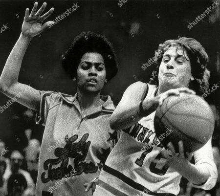 NANCY LIEBERMAN Old Dominion's Nancy Lieberman (10) takes the ball away from Louisiana Tech's Angela Turner, left, during first half action in game played at the Greesboro Coliseum,Greensboro,N.C