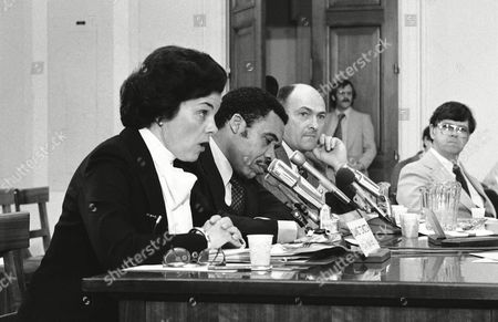Three big city mayors appear before the House Budget Committee Task Force on State and Local government in Washington, . From left are: Dianne Feinstein, San Francisco; Kenneth Gibson, Newark; and James Griffin, Buffalo