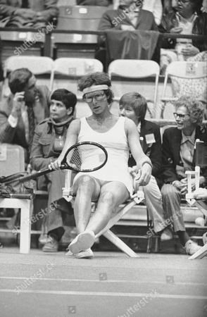 Renee Richards Transsexual tennis player Renee Richards is shown seated at Forest Hills, New York, during U.S. Open competition. Virginia Wade defeated Richards 6-1, 6-4
