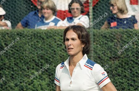 Renee Richards Transsexual tennis player Renee Richards, at RFK Celebrity Tennis Tournament, New York on