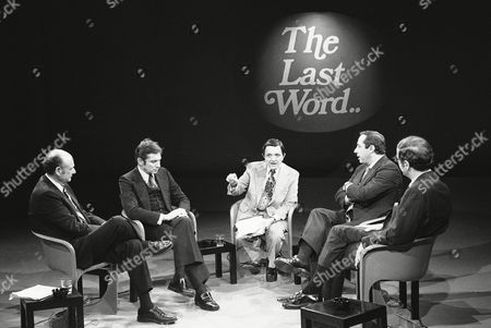 New York mayoral candidate Mario Cuomo, second from right, gestures as he makes a statement Monday night during a televised debate with other mayoral candidates in New York, . From left: Edward Koch, the Democratic candidate, Barry Farber, running as a Conservative, moderator Gabe Pressman, Cuomo, running as a Liberal, and Republican candidate Roy Goodman. New Yorkers go to the polls Tuesday