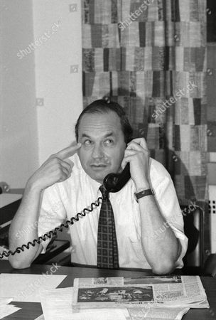 "Newsman Edwin Newman is shown at his office at NBC on . Early this day on NBC's ""Today Show"" Newman cut short George Jessel after he referred to the New York Times and The Washington Post as Pravda during an interview"