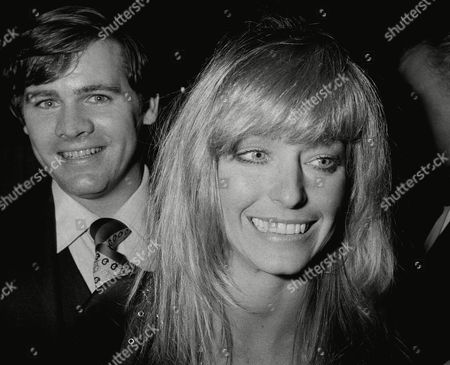 Actress Farrah Fawcett-Majors is shown during the shooting of her new film in New York, . Man behind her is unidentified