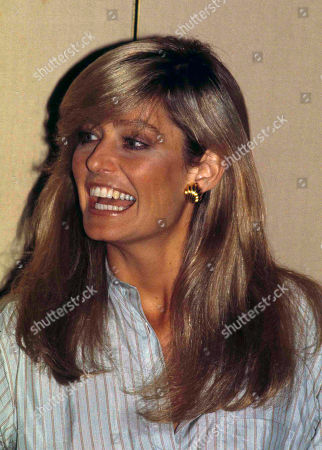 Actress Farrah Fawcett-Majors is shown at a news conference in Chicago